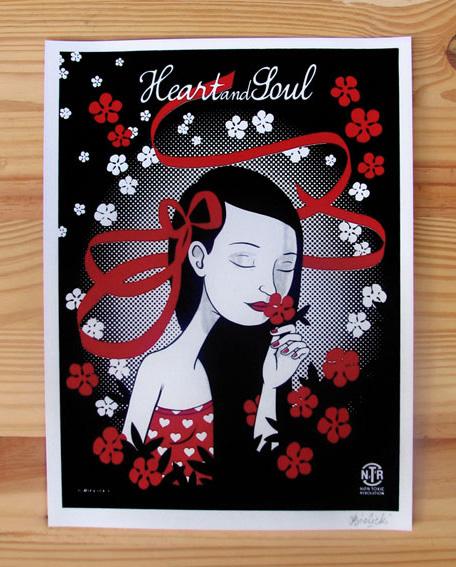 Sérigraphie Heart and Soul – Révolution Rose